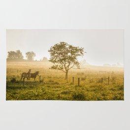 Two Horses at Sunrise Rug