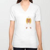 nurse V-neck T-shirts featuring Nurse by Digital-Art