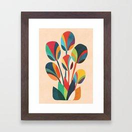 Ikebana - Geometric flower Framed Art Print