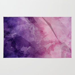 Violet - Watercolor Painting in Ultra Violet Purple and Pink Rug