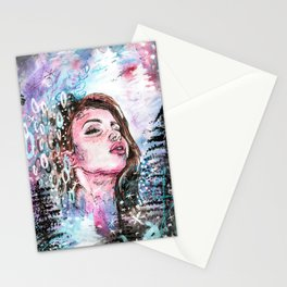 The cold breath Stationery Cards