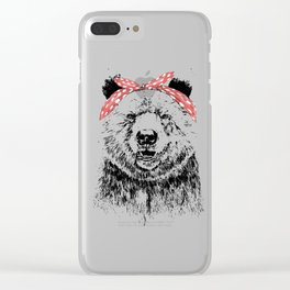Break the rules (without text) Clear iPhone Case
