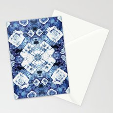 Blue Silk Tie-Dye Stationery Cards