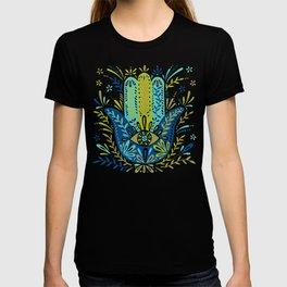 Hamsa Hand – Lime, Turquoise & Navy Palette T-shirt