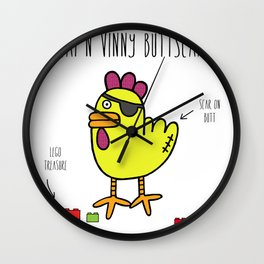 Cap'n Vinny Buttscar Wall Clock