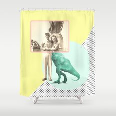 Who would like to date a t-rex Shower Curtain