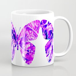Fluid Butterfly (Violet Version) Coffee Mug