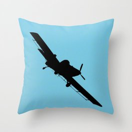 Crop Duster Silhouette Throw Pillow