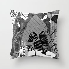 Living in a box. Throw Pillow
