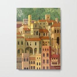 Medieval city Metal Print