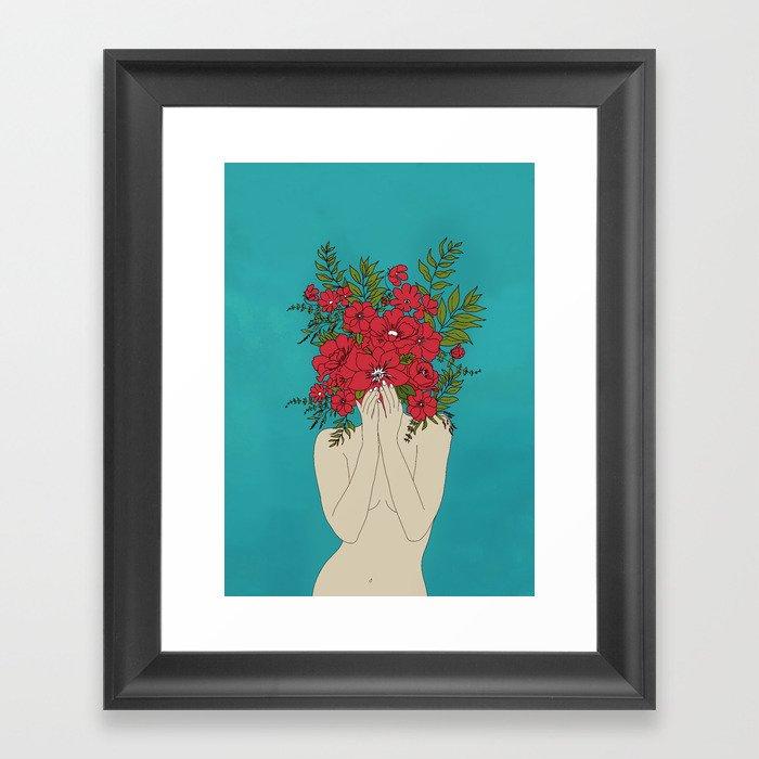 Blooming Red Gerahmter Kunstdruck