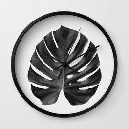Monstera_2 Wall Clock