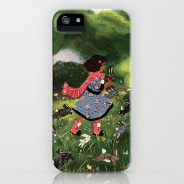 Rabbit Run iPhone Case