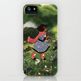 Rabbit Run iPhone Case