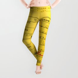 Library Card 23322 Yellow Leggings