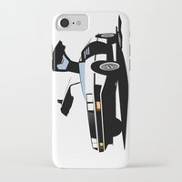 delorean iPhone & iPod Cases featuring Delorean - Ghost Image 1 by Geoff Ombao Car Art