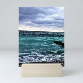 Winter Waters off Point Betsie Mini Art Print