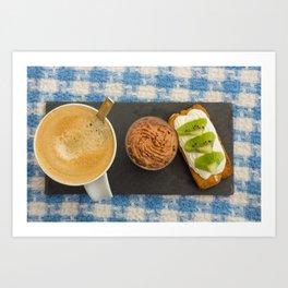 Café gourmand Art Print
