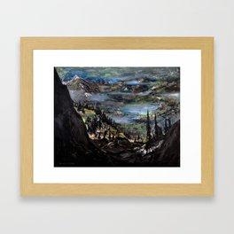 Just Another Landscape (oil on canvas) Framed Art Print