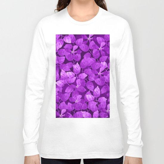 watercolor Botanical garden IV Long Sleeve T-shirt