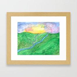 Morning Over the Valley Framed Art Print