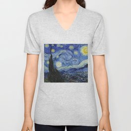 Starry Night by Vincent Van Gogh Unisex V-Neck