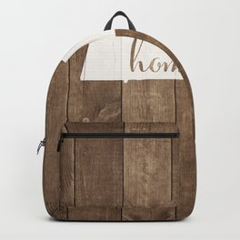 Massachusetts is Home - White on Wood Backpack