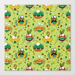 Monster Mash Green Canvas Print