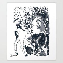 Pablo Picasso Picador II (Bullfighter) T Shirt, Aquatint Art Art Print