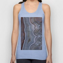 Striped Agate Crystal Unisex Tank Top