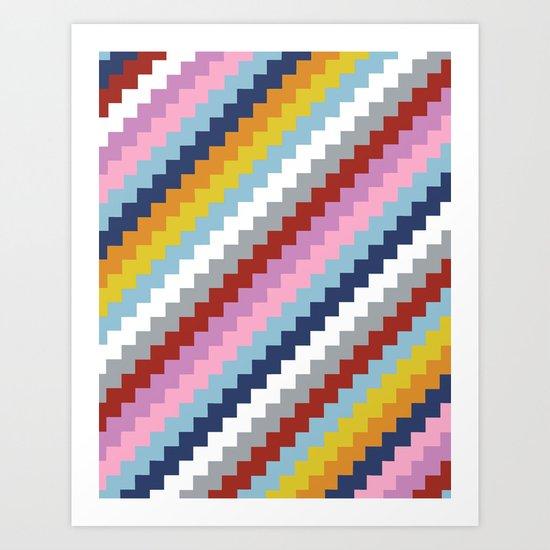 Map Quilt 45 Art Print