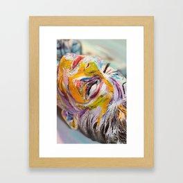 Crackled Framed Art Print