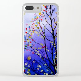 sparkling winter night sky Clear iPhone Case