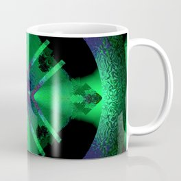 Spinning Wheel Hubcap in Green Coffee Mug