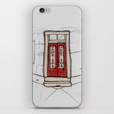 Red Doors  iPhone & iPod Skin