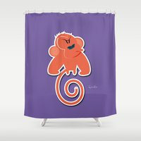 quibe Shower Curtains featuring Angry moonkey  by quibe