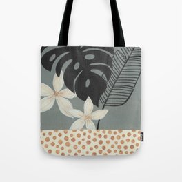 Grey Tropics Tote Bag