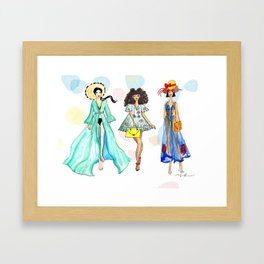 Summer Girls Framed Art Print