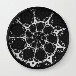 Dark Mandala #3 Wall Clock