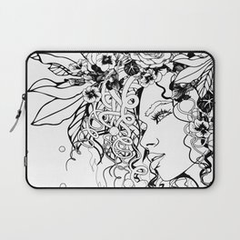 With Flowers in Her Hair No. 5 Laptop Sleeve