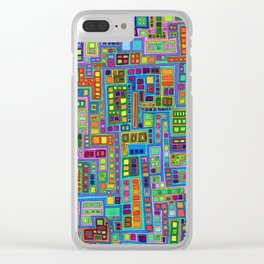 Tiled City Clear iPhone Case