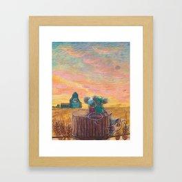 I love Alberta Framed Art Print