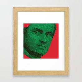 Jose Mourinho / Portugal – Poly Framed Art Print