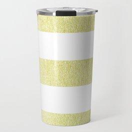 Simply Striped 24K Gold Travel Mug