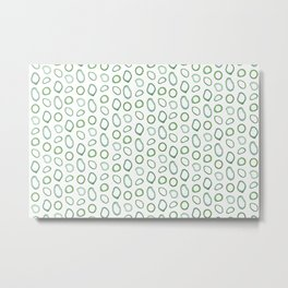 Onion rings pattern Metal Print