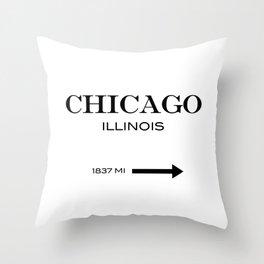 Chicago - Illinois Throw Pillow