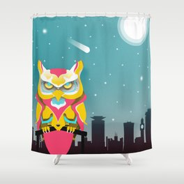 Nairobian Owl Shower Curtain