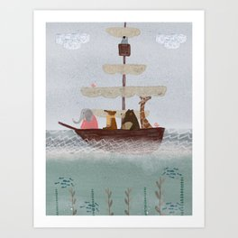 setting sail Art Print