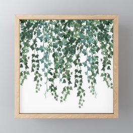 Ivy Vine Drop Framed Mini Art Print
