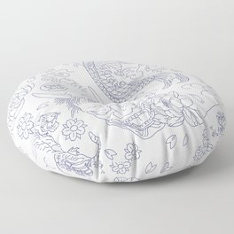 Japanese Tattoo Floor Pillow